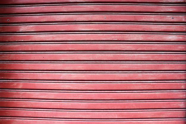 Red rolling door background