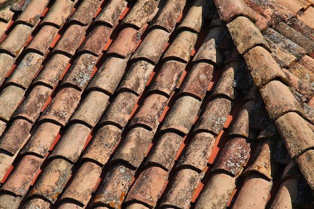 Red roofs in dubrovnik city on adriatic sea, croatia