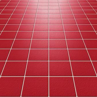 Red rough mosaic