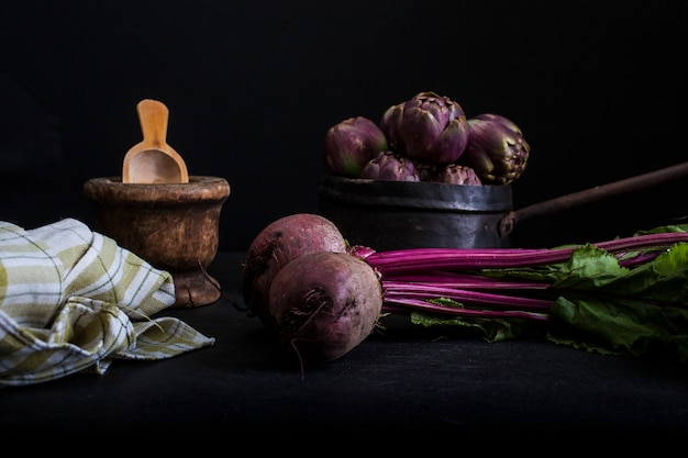 Red round turnip