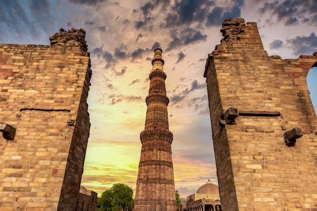 Red sandstone tower in new delhi