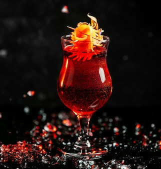 Red sangria on the table
