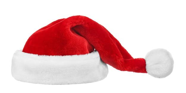 빨간 산타 클로스 모자 배경