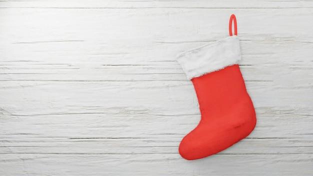 Red santa sock