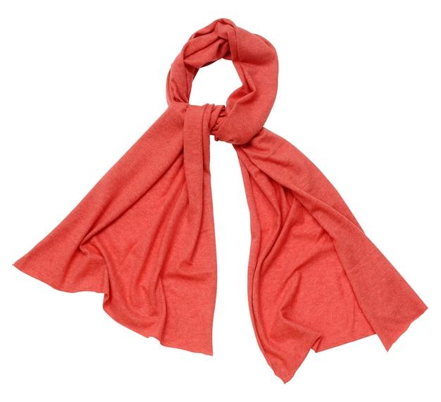 白地に赤いスカーフ、孤立 Premium写真