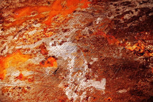 Red scratched metal grunge surface