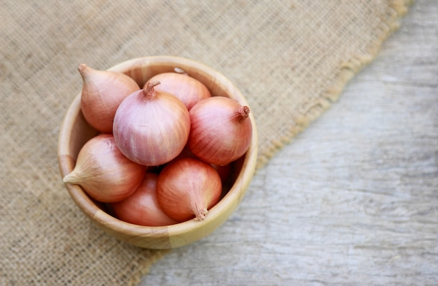 Red shallot for healthy eating