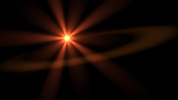 Красный блестящий свет в темноте