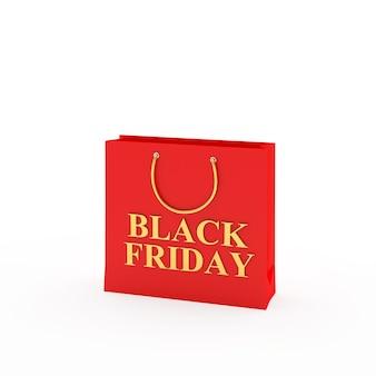 Красная сумка с надписью черная пятница