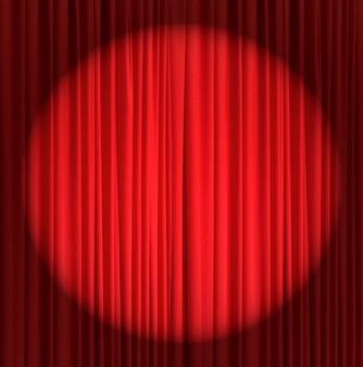 Red silk curtain background