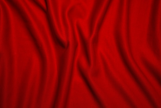 Red silk folded fabric background