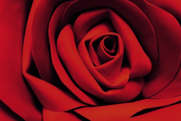 赤い絹のバラの花