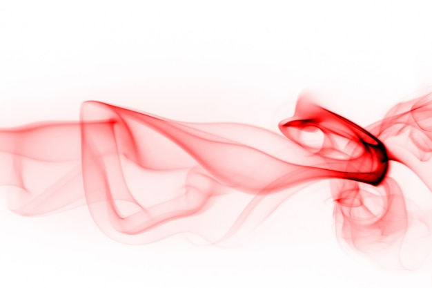 Red smoke abstract on white