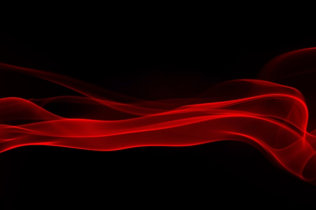 Red smoke and fog on black background