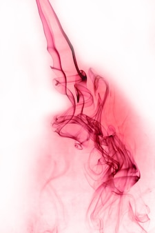 Red smoke motion on white background.