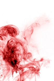 Red smoke on a white background