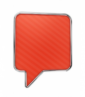 Red speech bubble