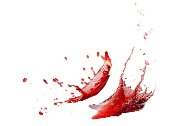 孤立した赤い水しぶき