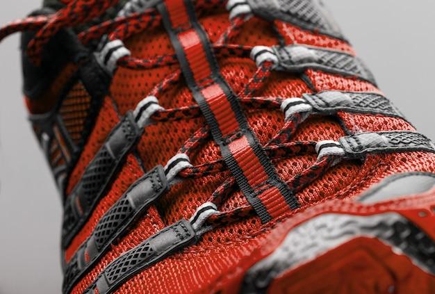 Red sport shoe