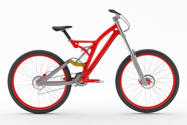 レッドスポーツバイク