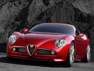 赤いスポーツカー、乗車