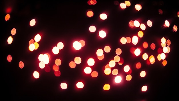 Red spots of lights