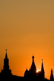 Red square silhouettes