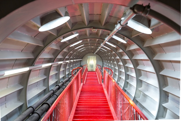 Red stairway sucessful concept.