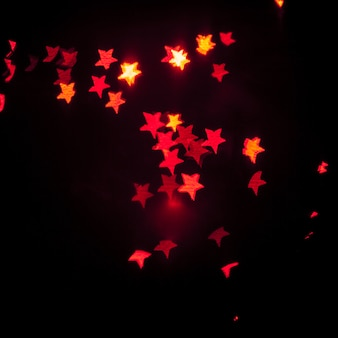 Red star-shaped lights