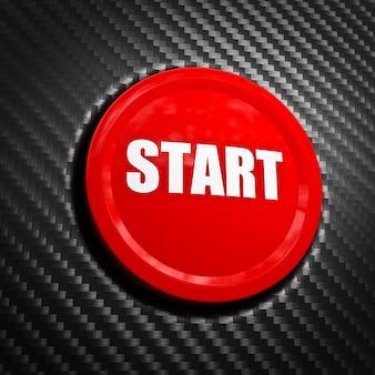 Red start button on carbon fiber