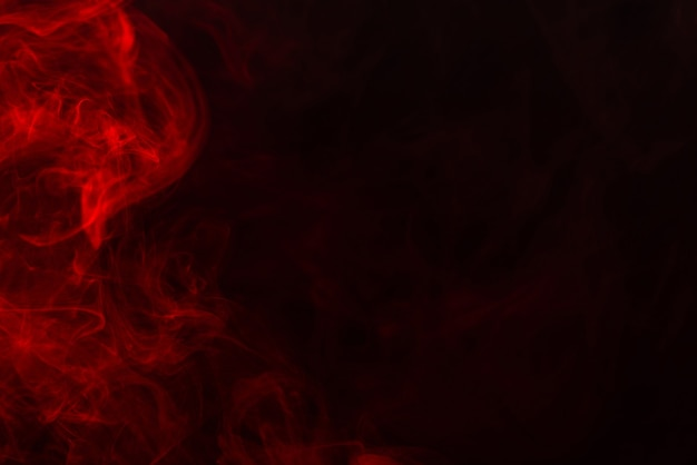 Red steam on a black background