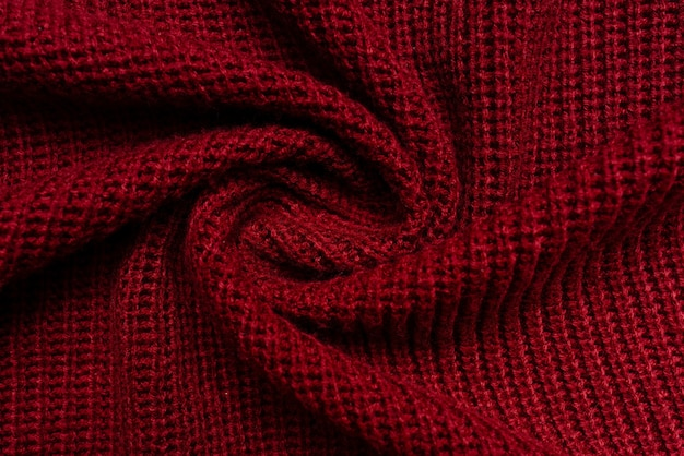 Red sweater fabric texture