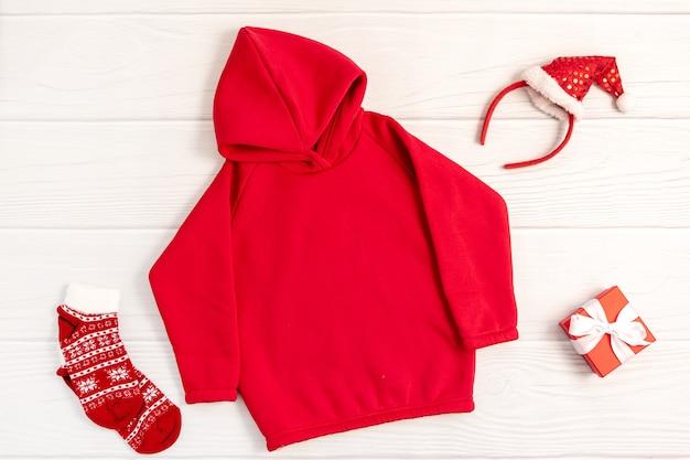 크리스마스에 빨간 운동복 hoodei 모형