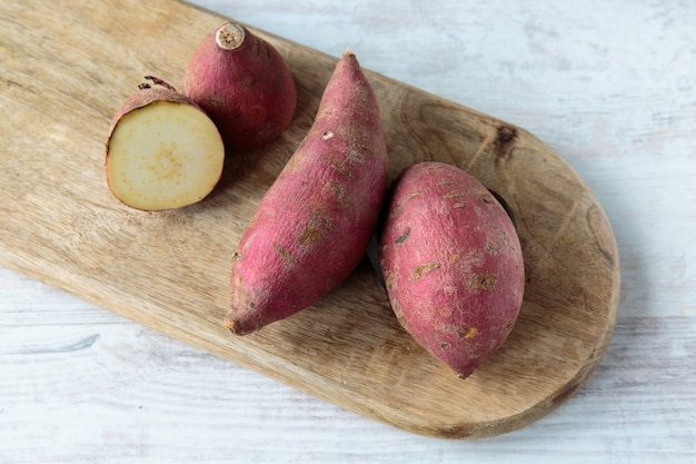 Red sweet potatoes