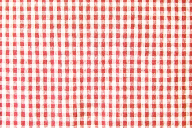Red table cloth texture background, tablecloth top view