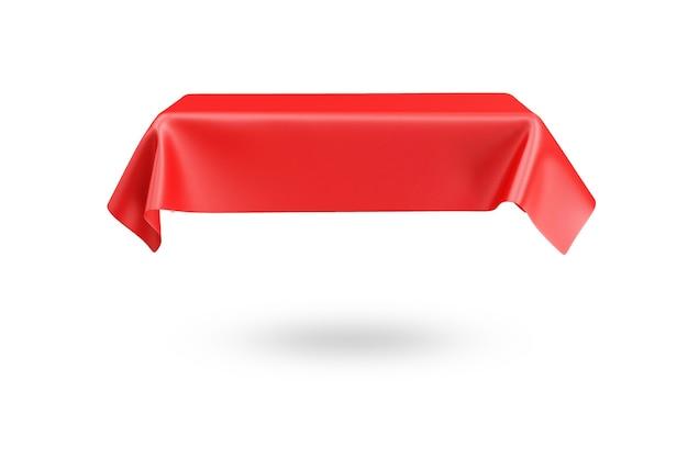 Красная скатерть, изолированные в 3d-рендеринге