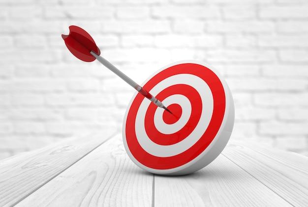 Red target dart