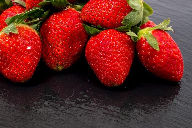 Red tasty strawberries