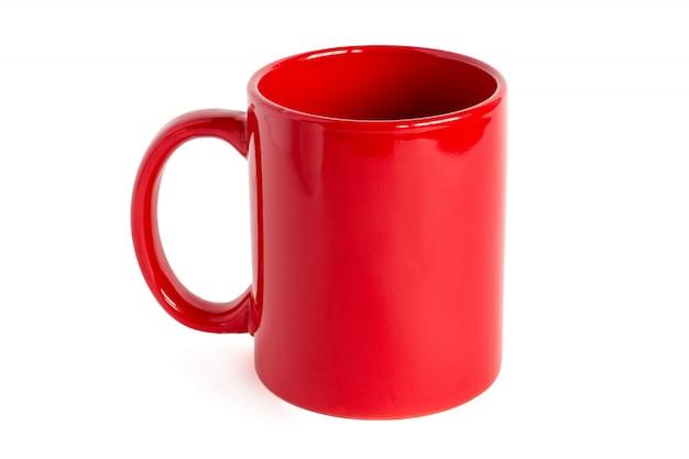 Red tea mug, isolated