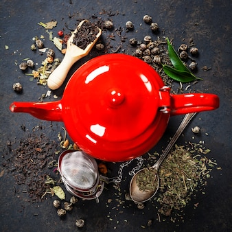Красный чайник