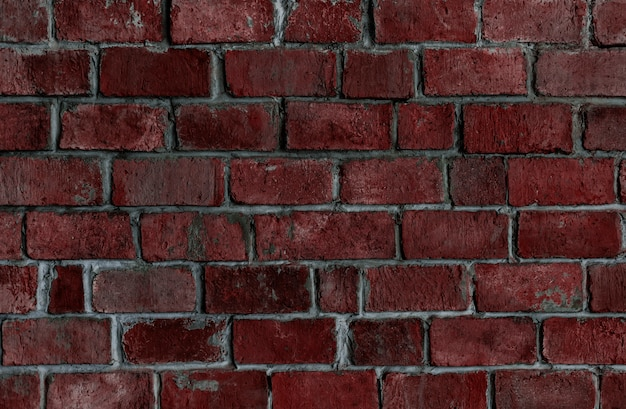 Red textured brick wall background