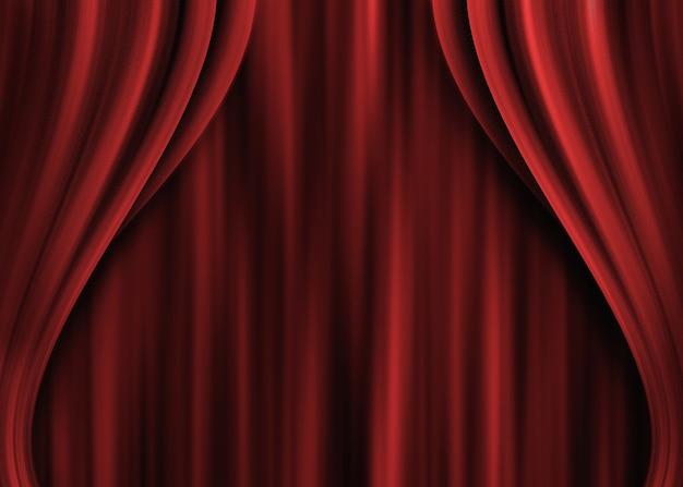 赤い劇場のカーテン