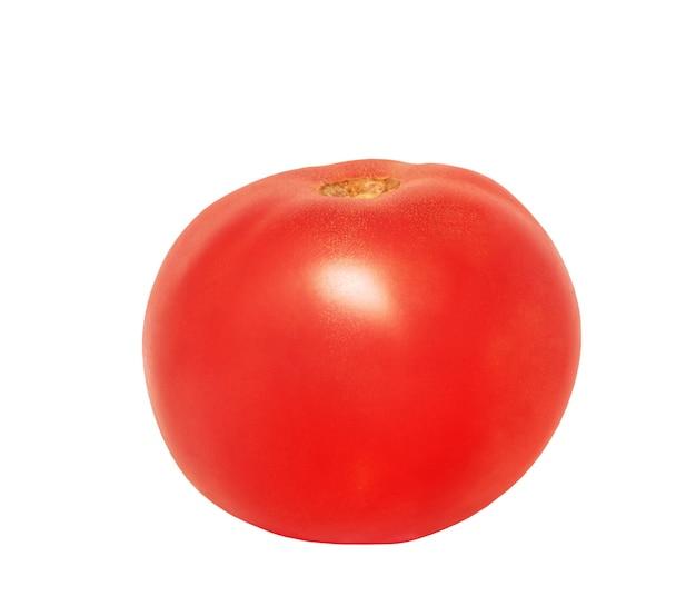 빨간 토마토 분리입니다. 신선한 토마토 흰색 배경에 고립입니다.