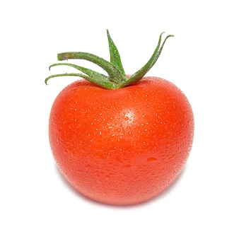 절연 물 방울과 빨간 토마토