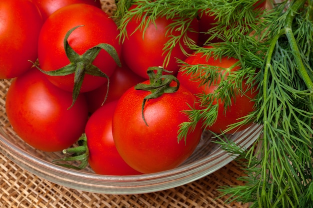 Red tomatoes and dill
