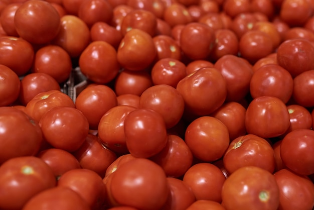 Red tomatoes in the store