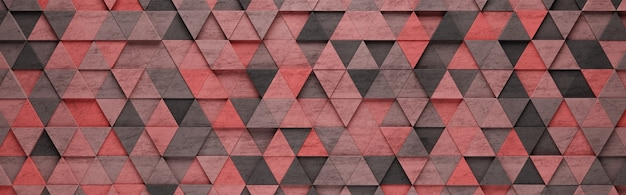 Red triangles 3d pattern background