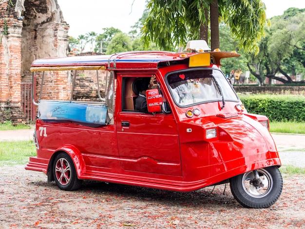 Red tuk tuk, thailand.