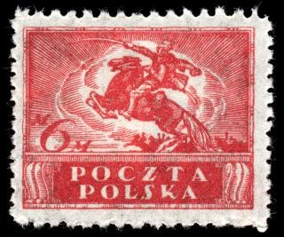 Red uhlan regiment stamp