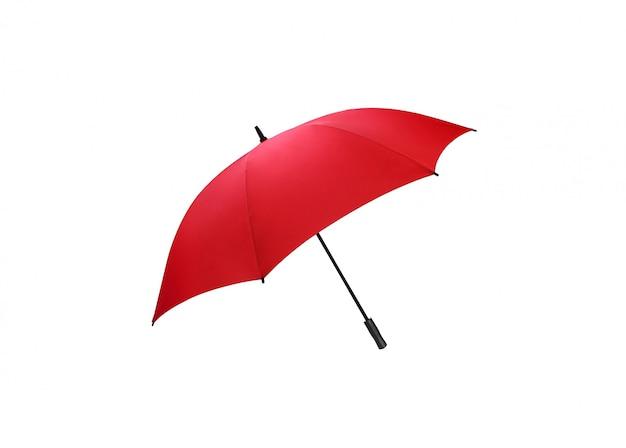 Красный зонт для защиты изолирован